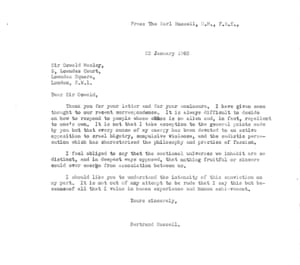Russell letter to Mosley