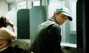 Hiding your light under a baseball cap … Charlize Theron in Dark Places.