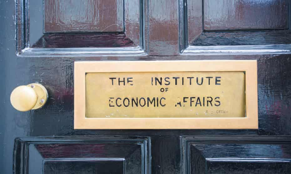The letterbox on the Institute of Economic Affairs building in London