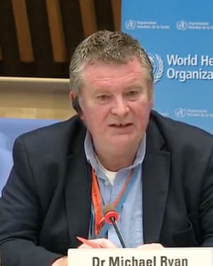 Dr Michael Ryan at today's WHO press conference.