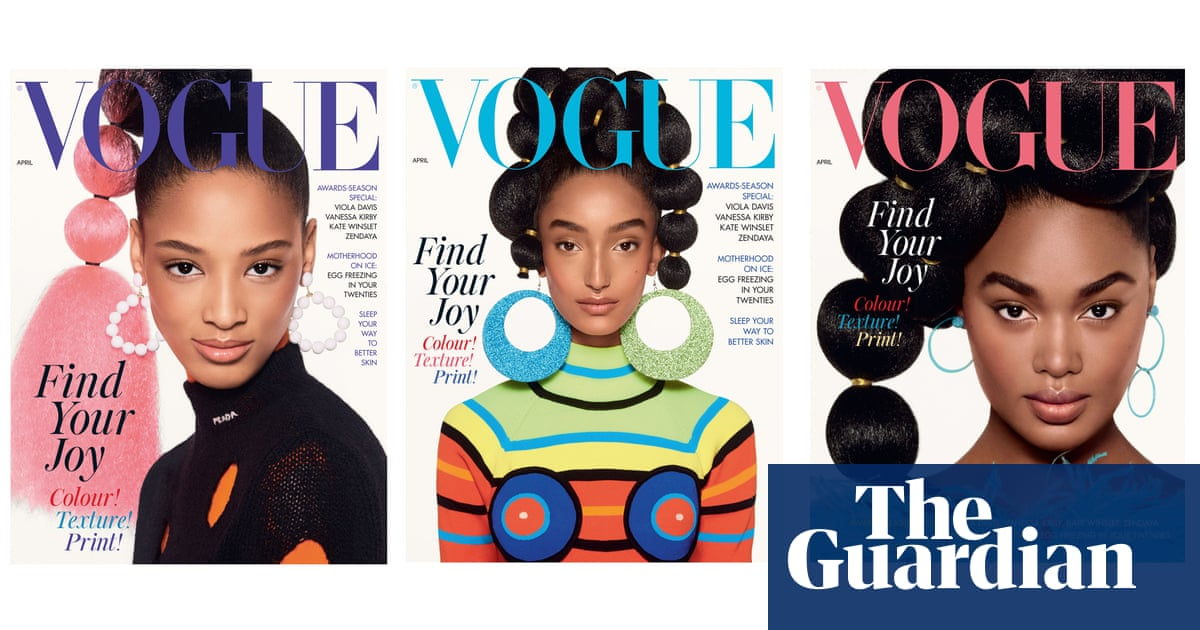 British Vogue covers celebrate black joy with sculpted hair