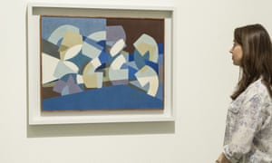 Composition in Blue Module, 1947-51, by Saloua Raouda Choucair on show at Tate Modern, London, in 2013.