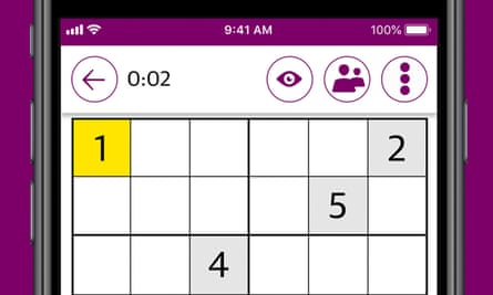 Sudoku in The Guardian Puzzles app