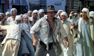 Harrison Ford in Raiders of the Lost Ark, photographed by Douglas Slocombe.