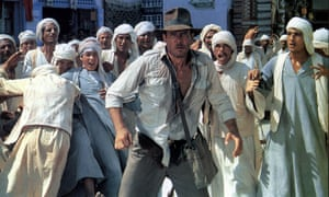 Harrison Ford as Indiana Jones in Spielberg's 1981 film Raiders of the Lost Ark