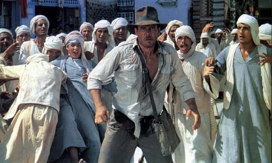 Harrison Ford as Indiana Jones in Spielberg's 1981 film Raiders of the Lost Ark
