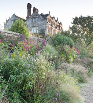 The long border at Gravetye Manor.
