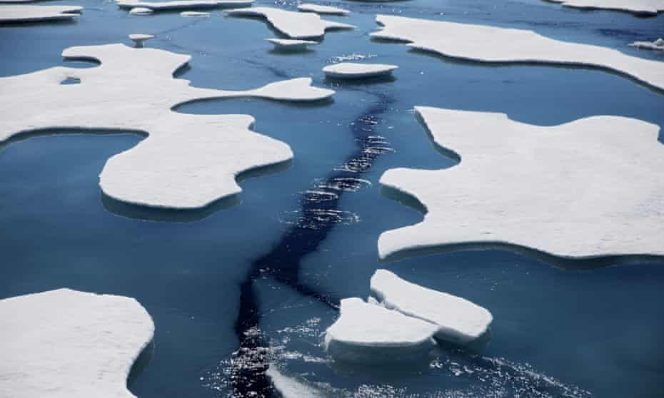 The Northwest Passage through the Victoria Strait in the Canadian Arctic Archipelago.