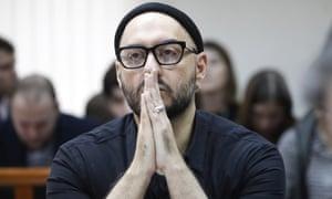 Kirill Serebrennikov at a court in Moscow