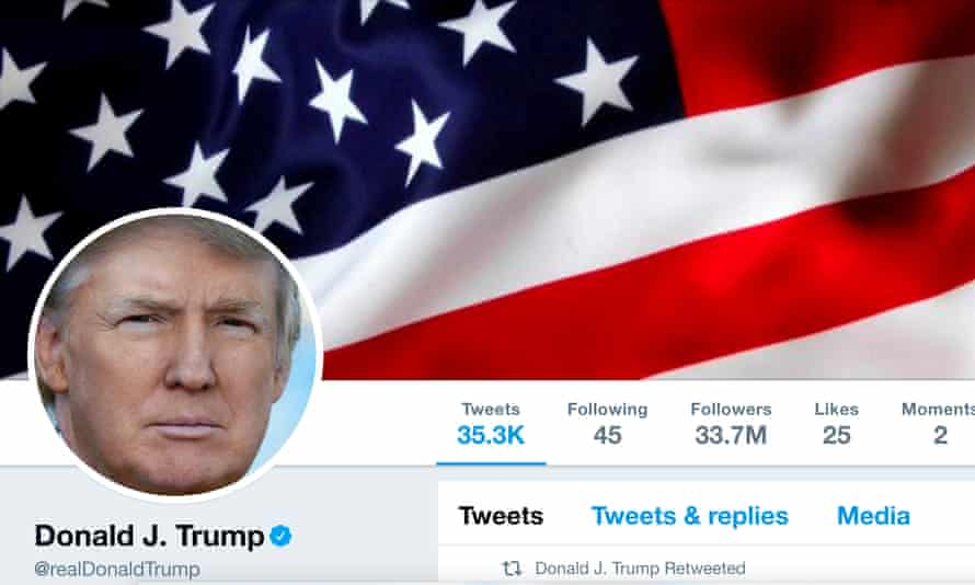 The president's Twitter page officially did not exist for 11 minutes on Thursday. One Twitter user responded: 'USA was great again – for 11 minutes.'