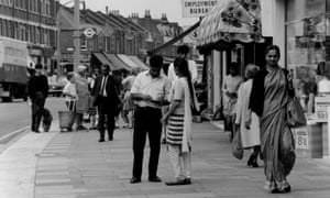 Asian people shopping in Southall high street, London. 'In the 1970s, racism was so embedded in the social fabric of Britain that it was hardly newsworthy.'