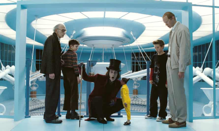 Echoing common feelings of awkwardness … Johnny Depp as Willy Wonka in Charlie and the Chocolate Factory.
