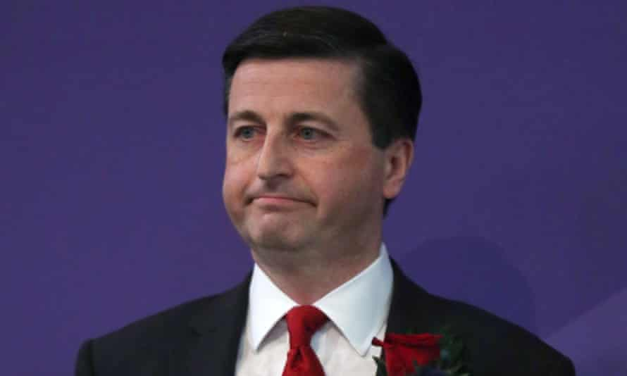 Labour's Douglas Alexander looks on as the SNP's Mhairi Black is named as the new MP of Paisley and Renfrewshire South.