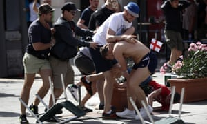 England and Russia fans clash in Marseille on 11 June