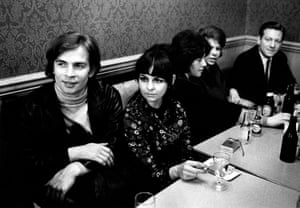 Ballet dancers Rudolph Nureyev and Lynn Seymour sitting in The Crown pub in the North End Road, West London, 1965