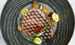 'How would we like it? At £27 a song, a dance and a joke would be welcome': tuna nicoise.
