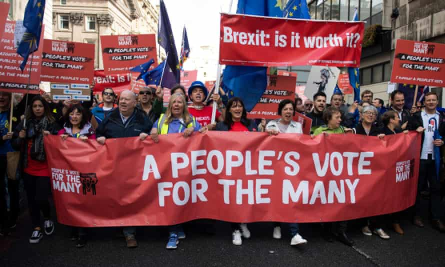 A people's vote march in Liverpool