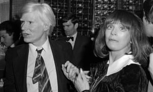Andy Warhol and Fenella Fielding at Regines in London on 15 June 1980