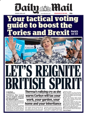 front page The Daily Mail, Thursday 8 June.
