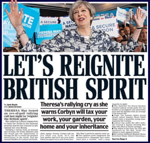 The Daily Mail goes all out for Theresa May on polling day.
