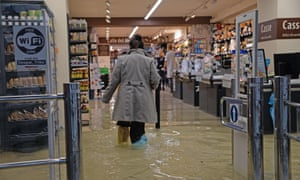 A flooded supermarket in Venice on 15 November.