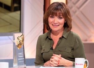 Lorraine Kelly presenting her ITV show