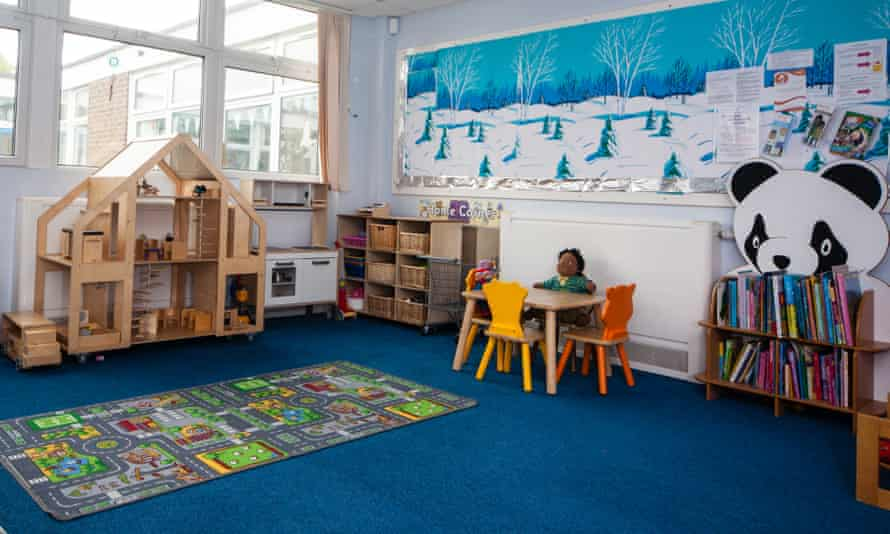 A children's room with role-play and reading area at Spark Burntwood, Staffordshire.