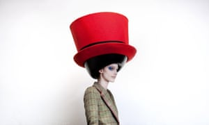 An oversized hat by Stephen Jones from the Barbican's The Vulgar: Fashion Redefined exhbition