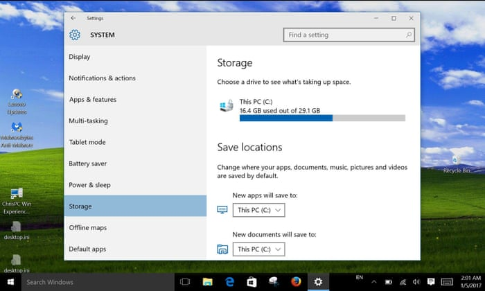 What is the best way to deal with Windows 10 updates on a 32GB