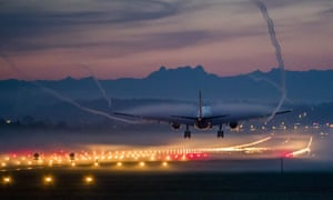 An Airbus A330 lands at Zurich airport. By 2020 passengers could be sleeping in the cargo hold.