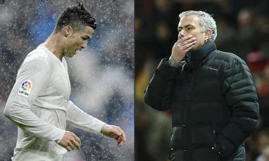 Cristiano Ronaldo and José Mourinho.