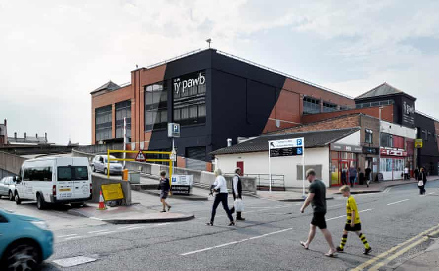 The arts centre Ty Pawb, which found space in an underused indoor market building in Wrexham