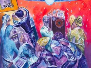 'That energy came through me' … Denzil Forrester's 2018 painting Velvet Rush.