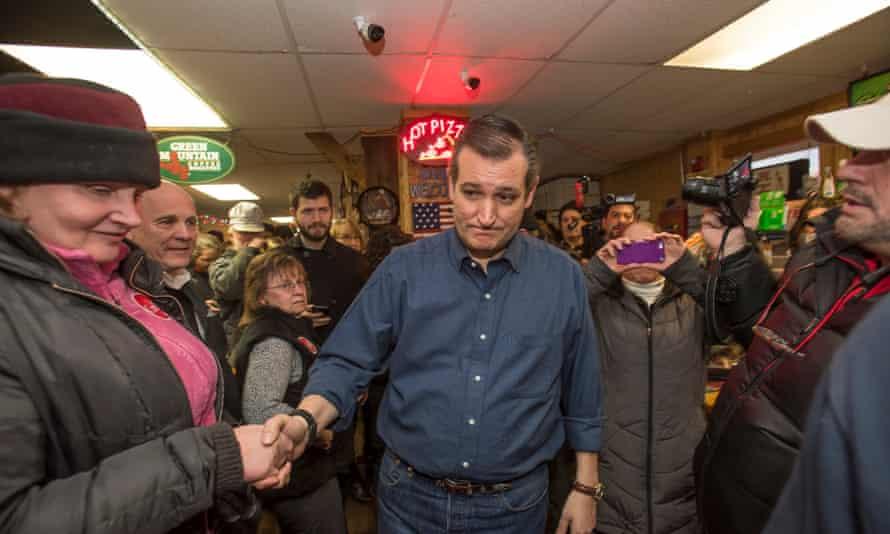 Republican Presidential candidate Senator Ted Cruz experiences retail politics in New Hampshire.