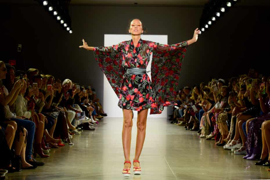 Cleveland on the catwalk for Nicole Miller's spring/summer 2020 collection at New York fashion week in 2019