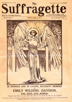 "13 June 1913 memorial edition of ""The Suffragette"" commemorating Emily Wilding Davison."