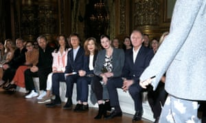 Paul McCartney among his daughter's front row 'squad'