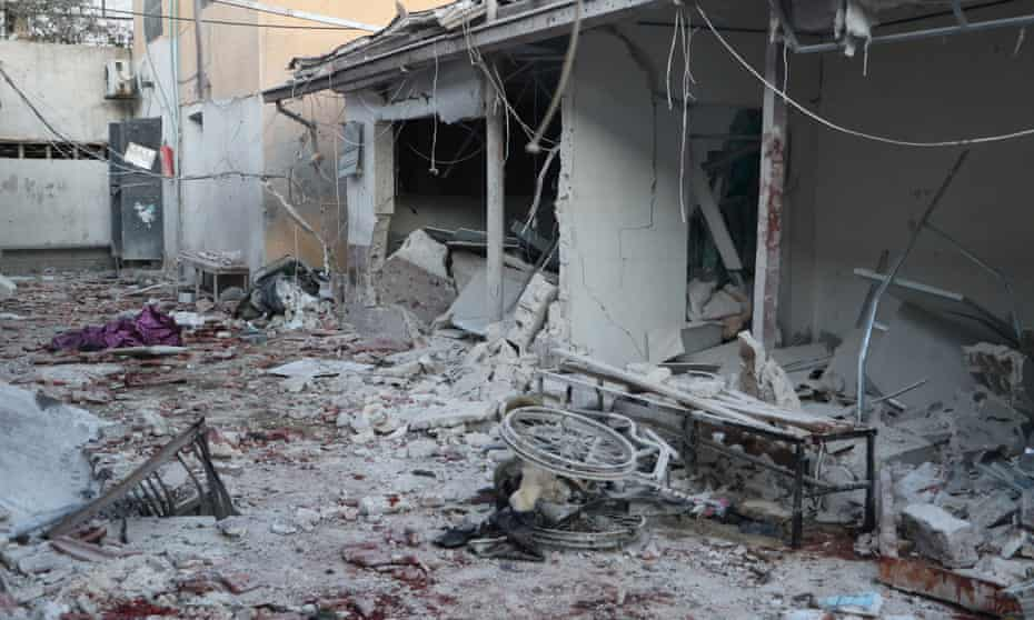 Damage to the Al-Shifaa hospital in the Syrian city of Afrin