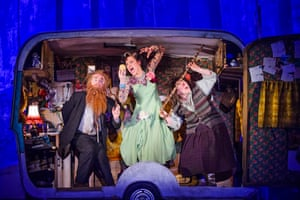 Jason Watkins, Christine Entwisle and Monica Dolan in The Twits at the Royal Court.