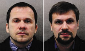 Alexander Petrov (left) and Ruslan Boshirov are alleged to have been behind the March nerve agent poisoning in Salisbury.