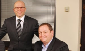 Dave Forsey, chief executive and founder Mike Ashley.