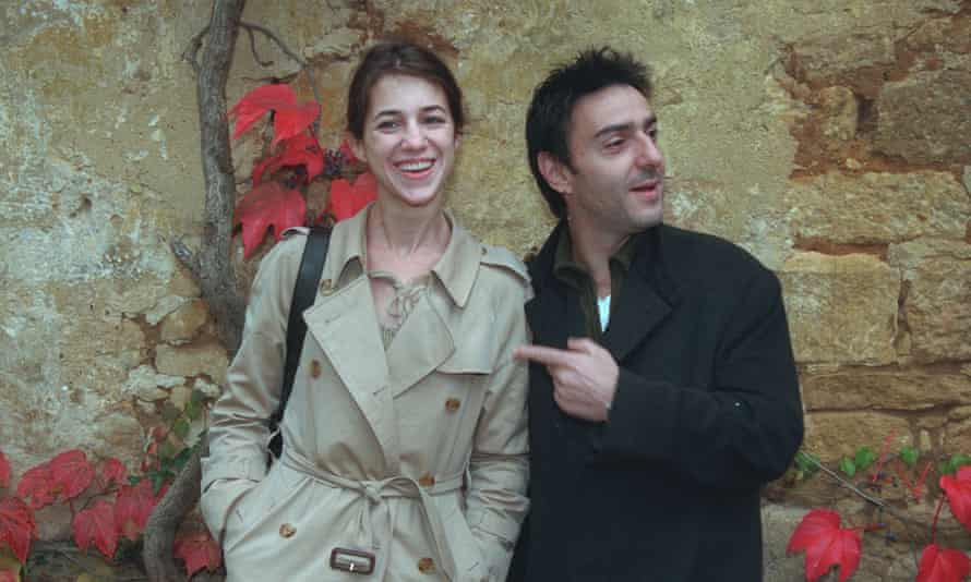 With her partner of 27 years, actor and director Yvan Attal.