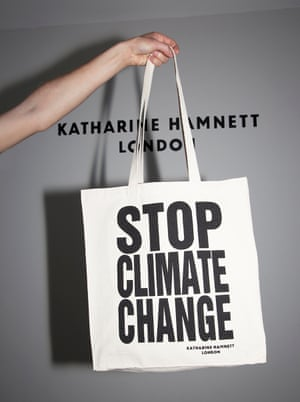 STOP CLIMATE CHANGE tote bag by Katharine Hamnett