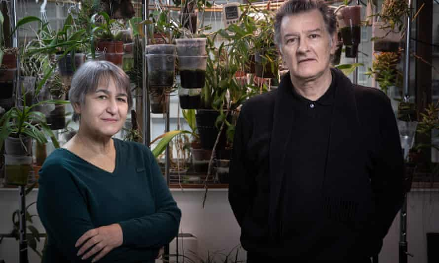 The 2021 Pritzker prize winners Anne Lacaton and Jean-Philippe Vassal, pictured in their workshop in Montreuil, outside Paris.