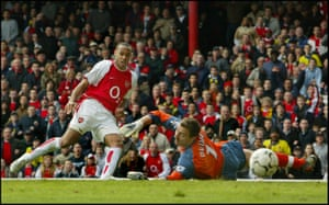 Thierry Henry scores past Jerzy Dudek back in 2004, when Arsenal not Liverpool, were kings of the counter attack.
