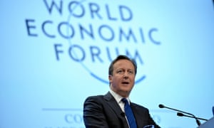 David Cameron as the World Economic Forum in 2014