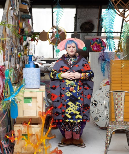 Bethan Laura Wood in her east London studio.