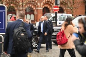 Sajid Javid, the chancellor, arrives at King's Cross station in London