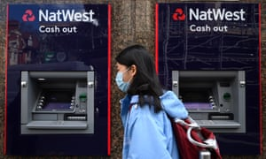 A NatWest bank in London, Britain.