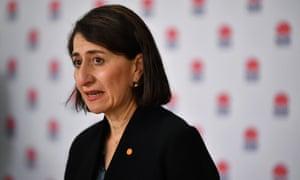 NSW Premier Gladys Berejiklian speaks to media during a press conference in  Sydney